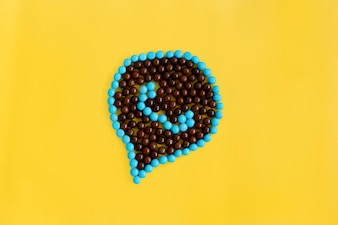 Pixelated Famous Social Media Messaging Icon