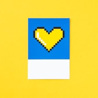 Pixelated heart shape 3d illustration