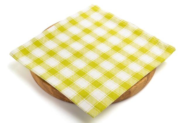 Pizza board and napkin isolated