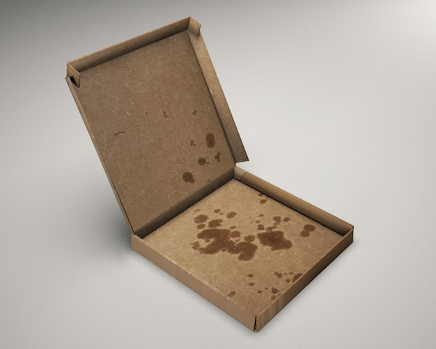 피자 상자 목업