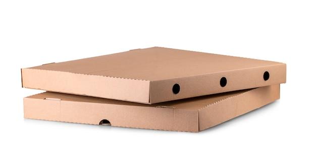 Коробка для пиццы на белом