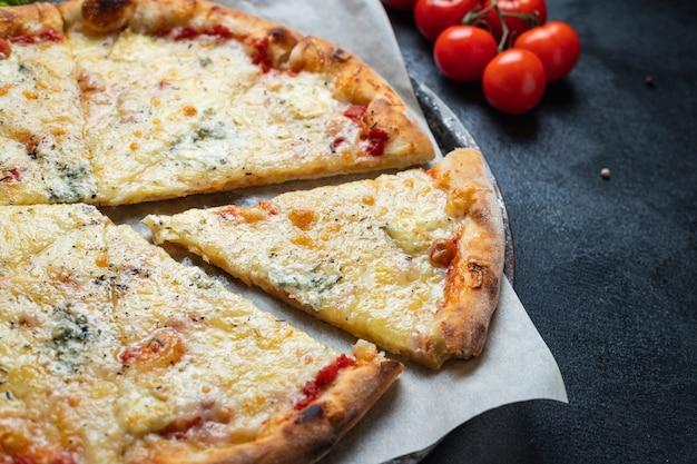 Пицца сырный 4 вида сыров ассорти ингредиент фастфуда