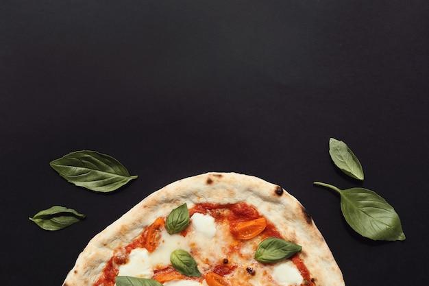 Pizza on dark