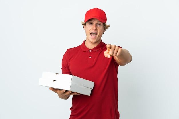 피자 배달원 줍기 피자 박스