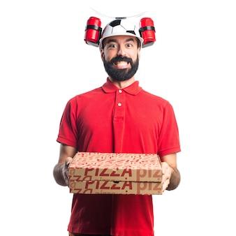 Человек доставки пиццы