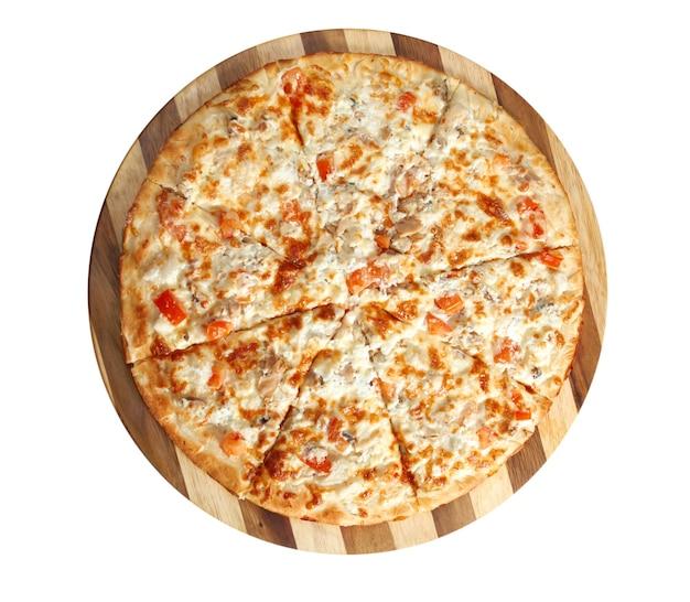 Пицца рыбная. итальянская кухня. студия