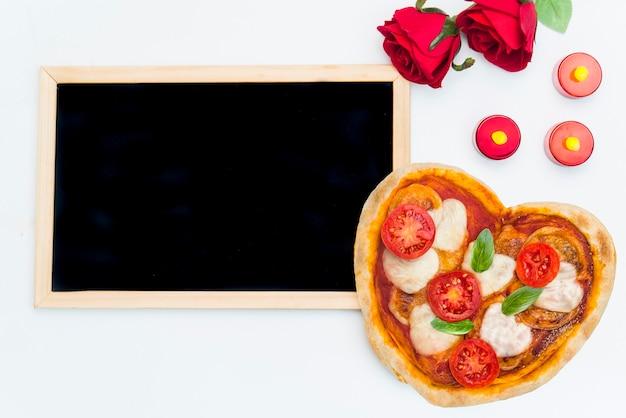 バレンタインデーのピザ