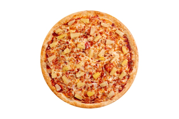Pizza isolated on white background. hot fast food