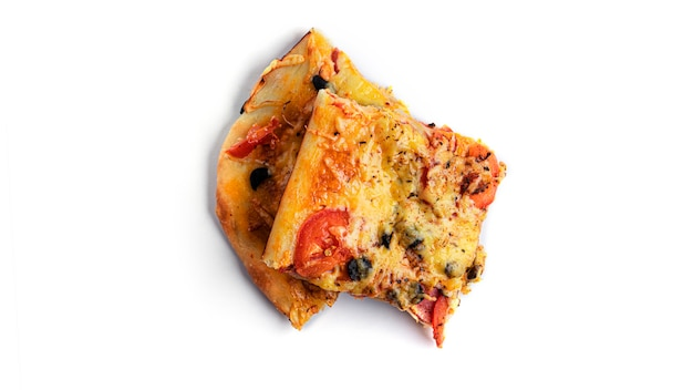 Pizza isolated.