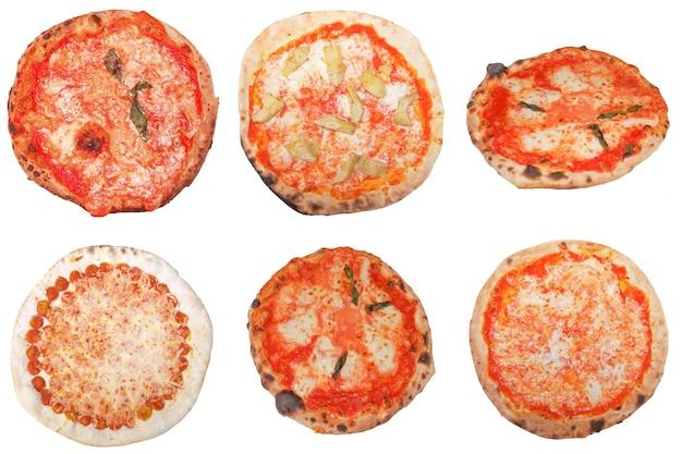 分離されたピザ