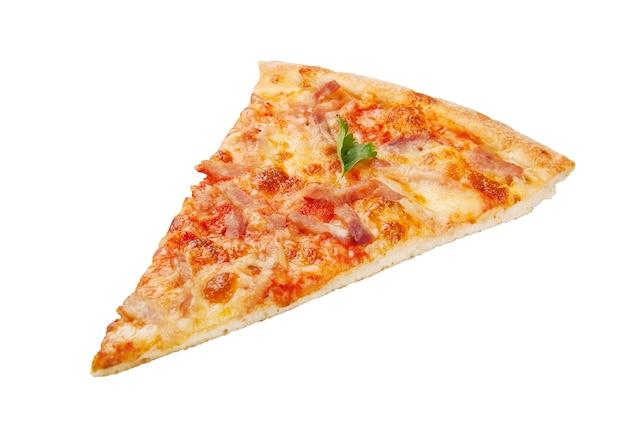 흰색 절연 피자 조각