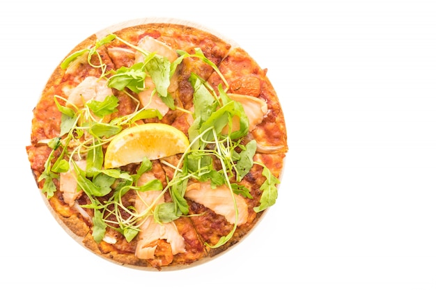 Pizza smoked salmon