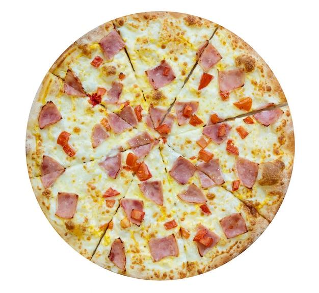 ハムとチーズのピザ