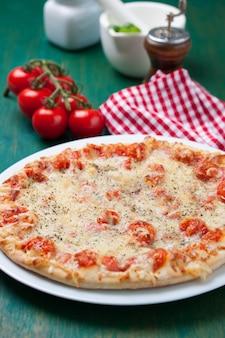 トマトとピザ