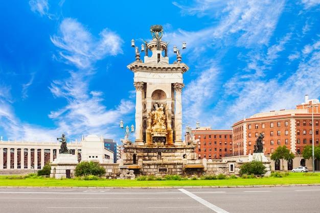 Placa espanya 또는 plaza de espana는 스페인 카탈로니아 지역의 바르셀로나 시에서 가장 중요한 광장 중 하나입니다.