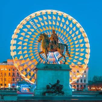 루이 14 세 왕의 벨 쿠르 동상, 리옹 프랑스