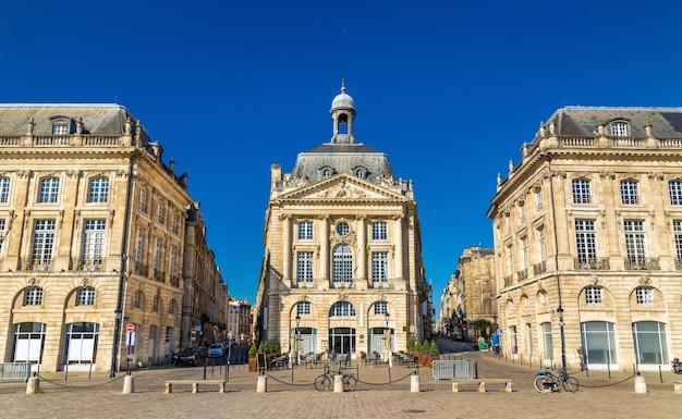 ボルドーの有名な広場、place de la bourse-フランス、アキテーヌ