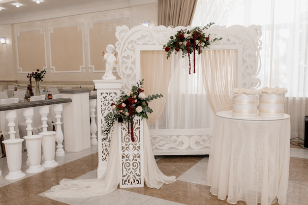 Place where newlyweds will be meet guests