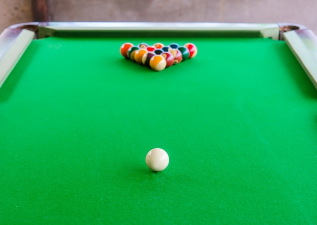 Placement of billiard balls on the table