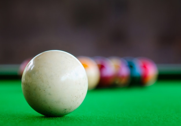 Placement of billiard balls