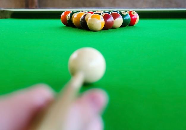 Placement of billiard balls