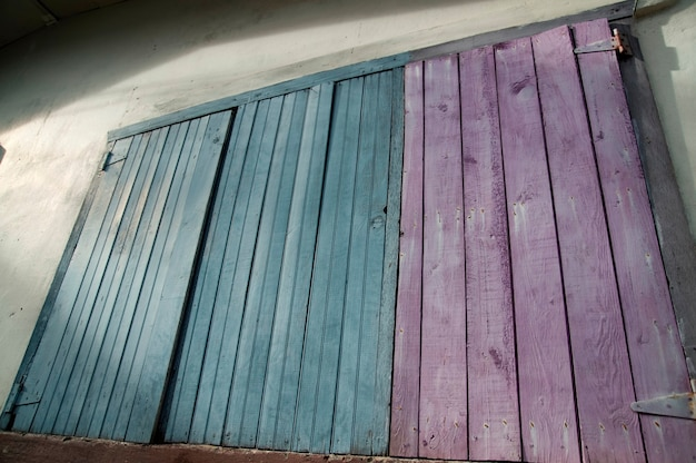 Placencia, wooden doors