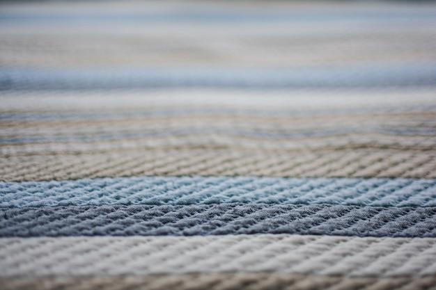 Plaid or blanket closeup