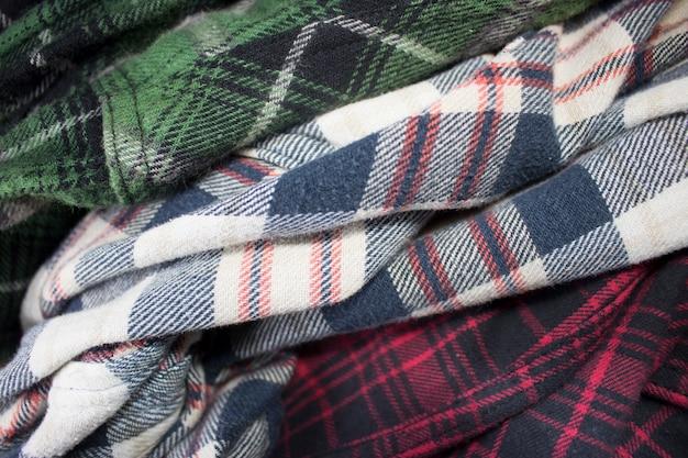 Plaid flannel fabric cloth