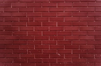 Plain bright red brick wall