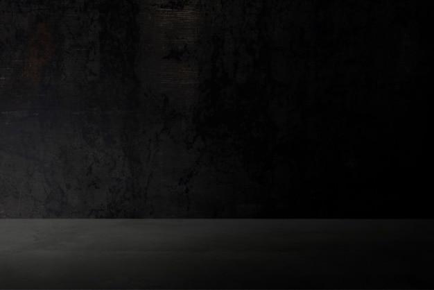 Semplice sfondo nero scuro del prodotto da parete