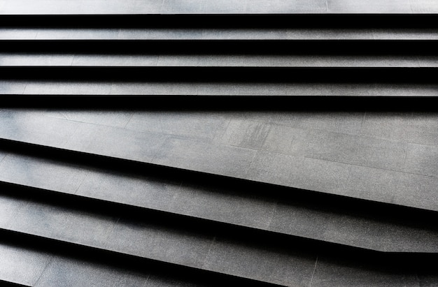 Plain dark granite stairs pattern
