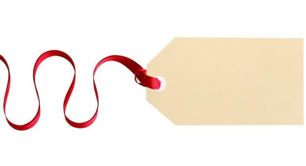 Tag regalo pianura con il nastro rosso