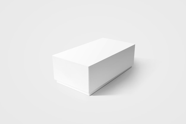 Plain white carton product box