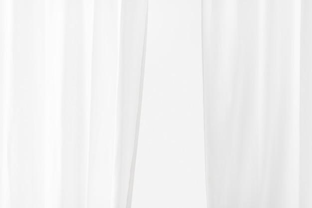 Plain white curtain in a room