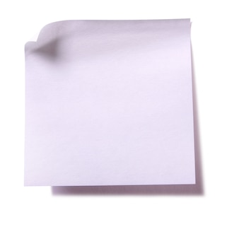 Plain white sticky post note isolated