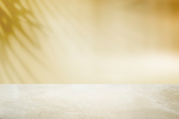 Plain yellow wall product background