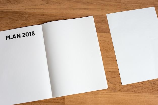 Plan 2018 notebook business team meeting  with an plan 2018