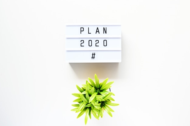 Plan 2020 business concept,top view