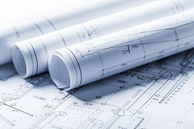 Plan architect real blueprint home design floor