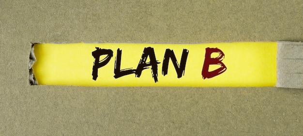 キューブのプランbテキスト。危機管理の概念。