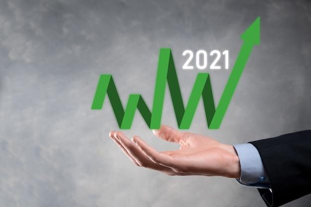 2021 년 개념의 비즈니스 성장 계획