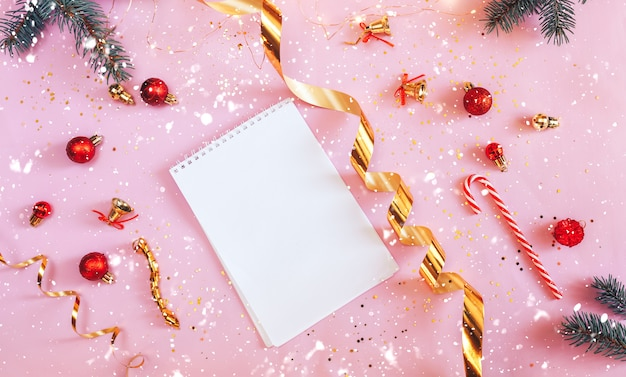 Plan of new year, to do list notebook