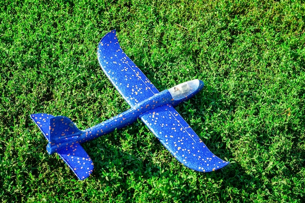 Plane on the grass