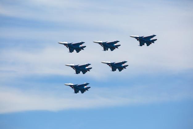 Plane team demonstrates aerobatics