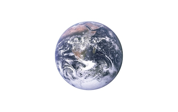 孤立した白い背景の上のプラネットアース