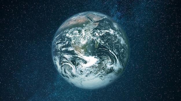 지구 행성. 우주에서보기