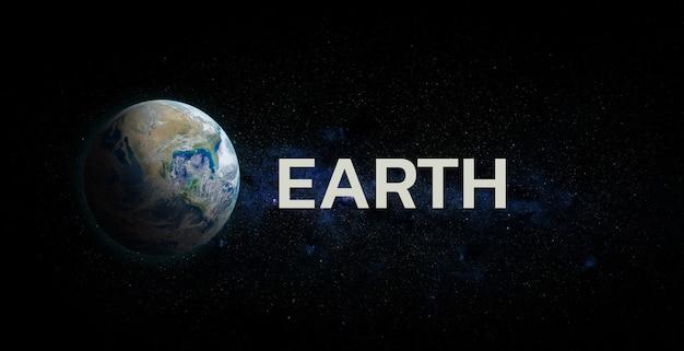 공간 배경에 일출과 행성 지구입니다. nasa가 제공 한이 이미지의 요소.