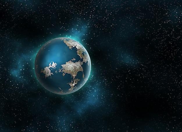 Планета в космосе - компьютер создан для ваших проектов