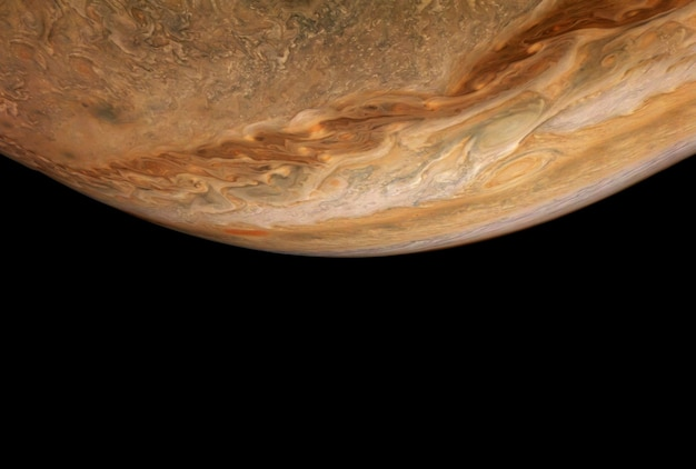 Planet jupiter on a dark background. elements of this image furnished by nasa. high quality photo