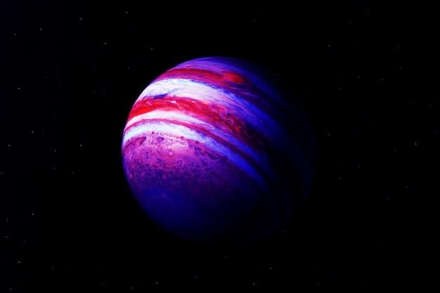 어두운 배경에 있는 행성 목성 이 이미지의 요소는 nasa에서 제공했습니다